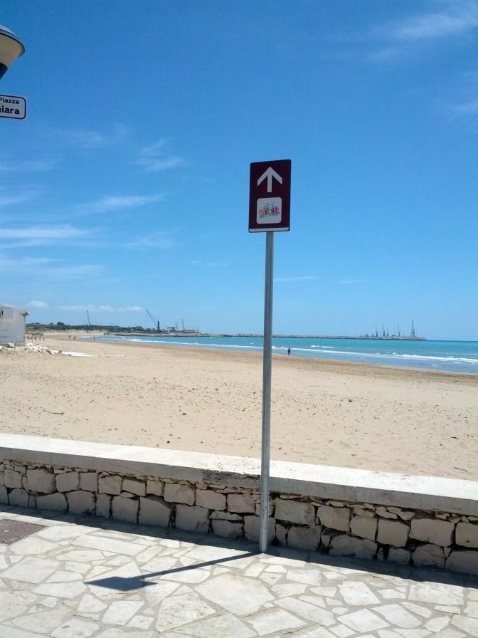 Towards the sea?