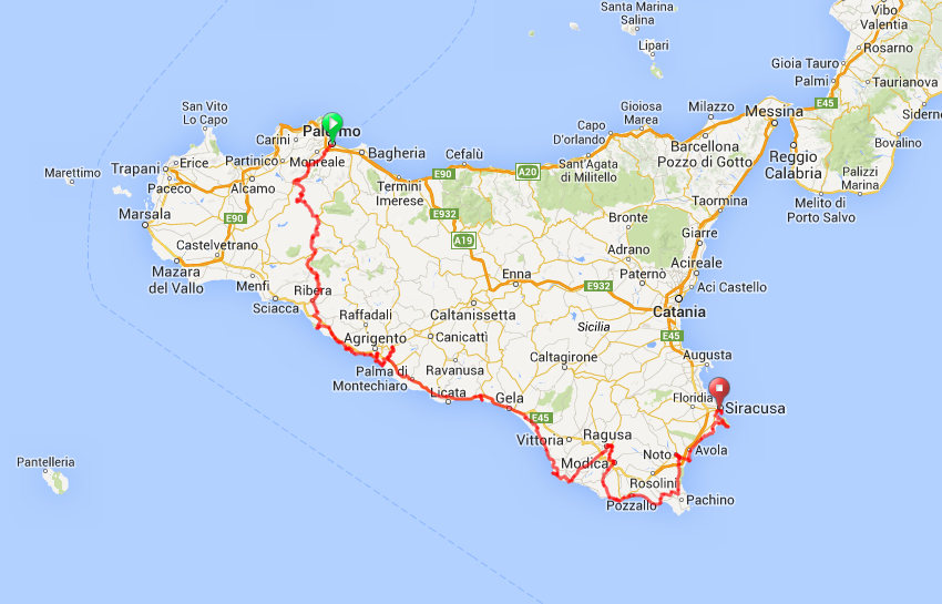 Sicily Itinerary image